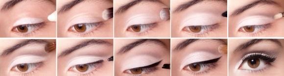 Макияж для зрительного увеличения глаз