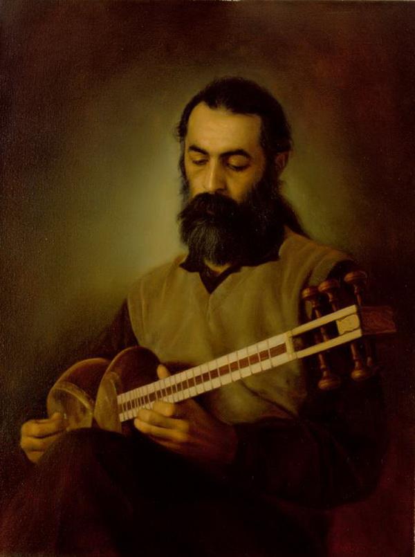 Музыкант, играющий на таре (покойный мастер Мехран Лотфи)