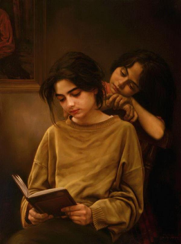Сестры за книгой