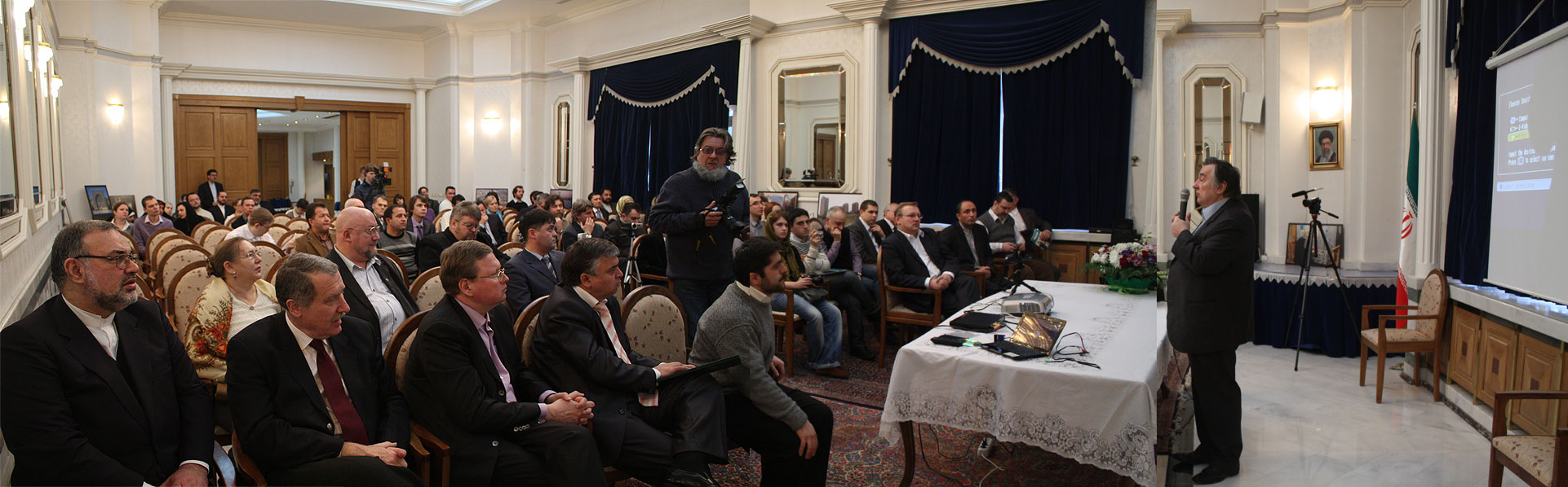 Речь г-на Проханова перед гостями