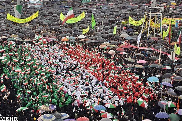 Жители Рашта празднуют годовщину Исламской революции