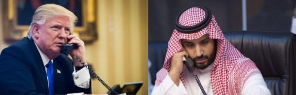 Телефонный разговор между Мохаммедом ибн Салманом и Дональдом Трампом после атаки на Сирию