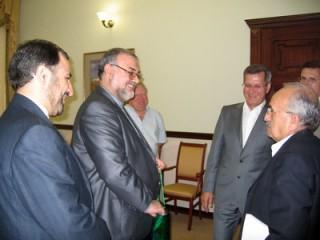 С губернатором Александром Жилкиным в Астрахани