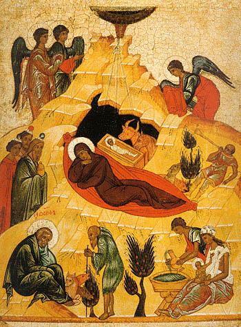 Рождество Христово, Андрей Рублев, Иконостас Троицкого Собора