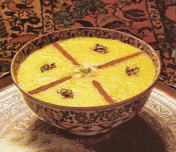 Жёлтый пудинг (Шолле зард)