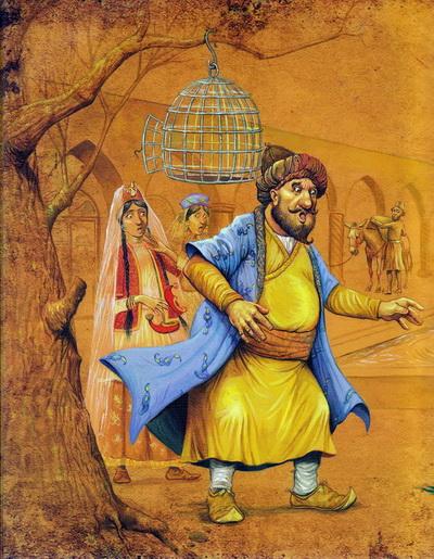 Иран, Персия, литература, Руми, Поручение попугая