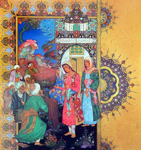 «Шейх Санан», Махмуд Фаршчиян (современный иранский миниатюрист)