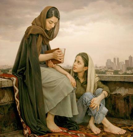 «Гадание по Хафизу», картина Имана Малеки