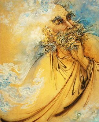Портрет Хафиза кисти мастера Махмуда Фаршчиана, современного иранского миниатюриста