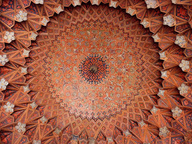 Иран, Персия, потолки, архитектура, исламская архитектура, ислам