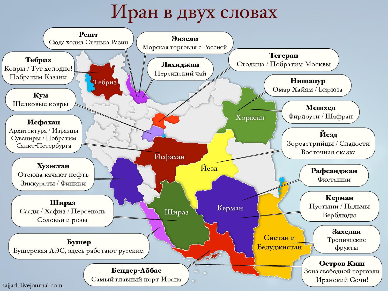 Иран, Персия, карта, карта Ирана, фисташки, ковры, Бушерская АЭС, финики, верблюды, пальмы, пустыни, нефть, Стенька Разин, города-побратимы