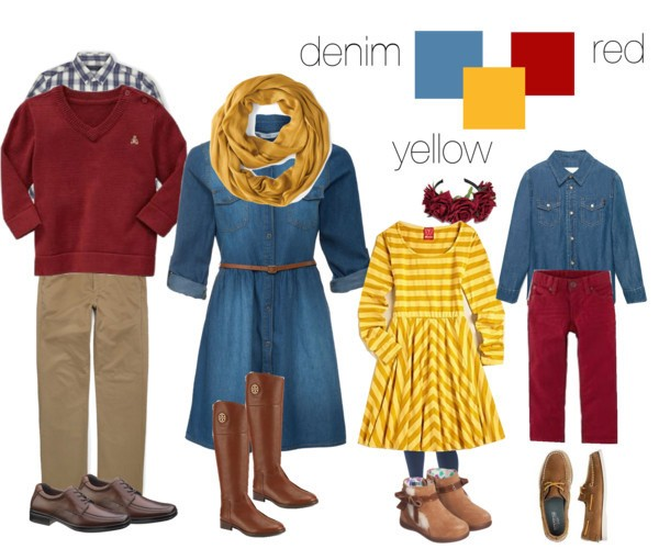 Clothing color ideas for family pictures - view here - position 2