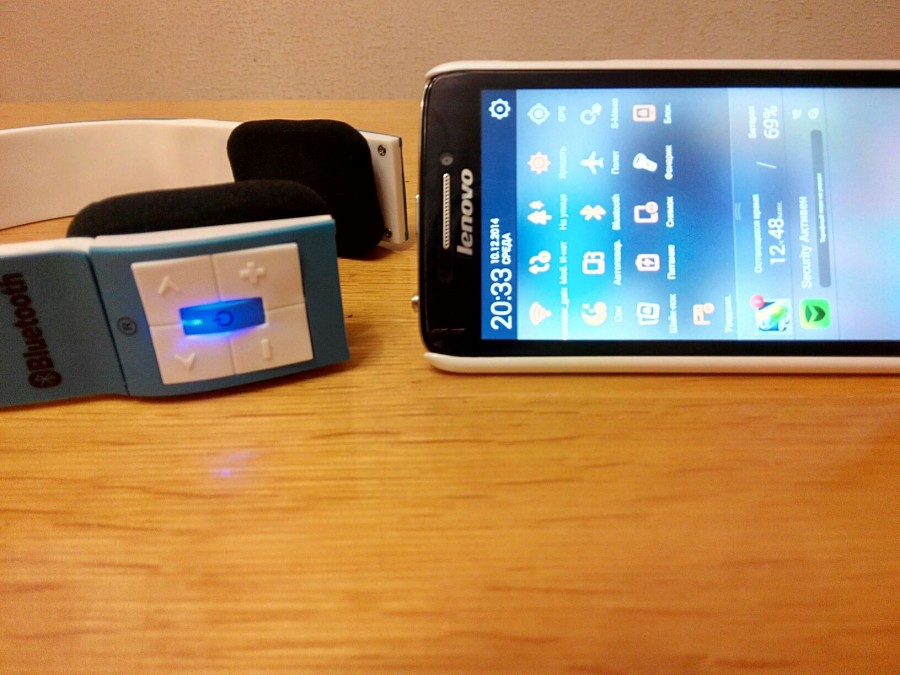 Comebuy.com: Беспроводные Bluetooth наушники для смартфона, синие BH23