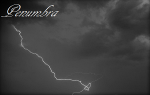 Lightening and clouds cropped Penumbra graphic for Glazed