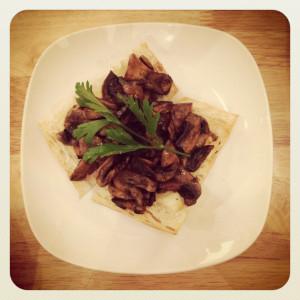 Mushroom Bruschetta - Real Food