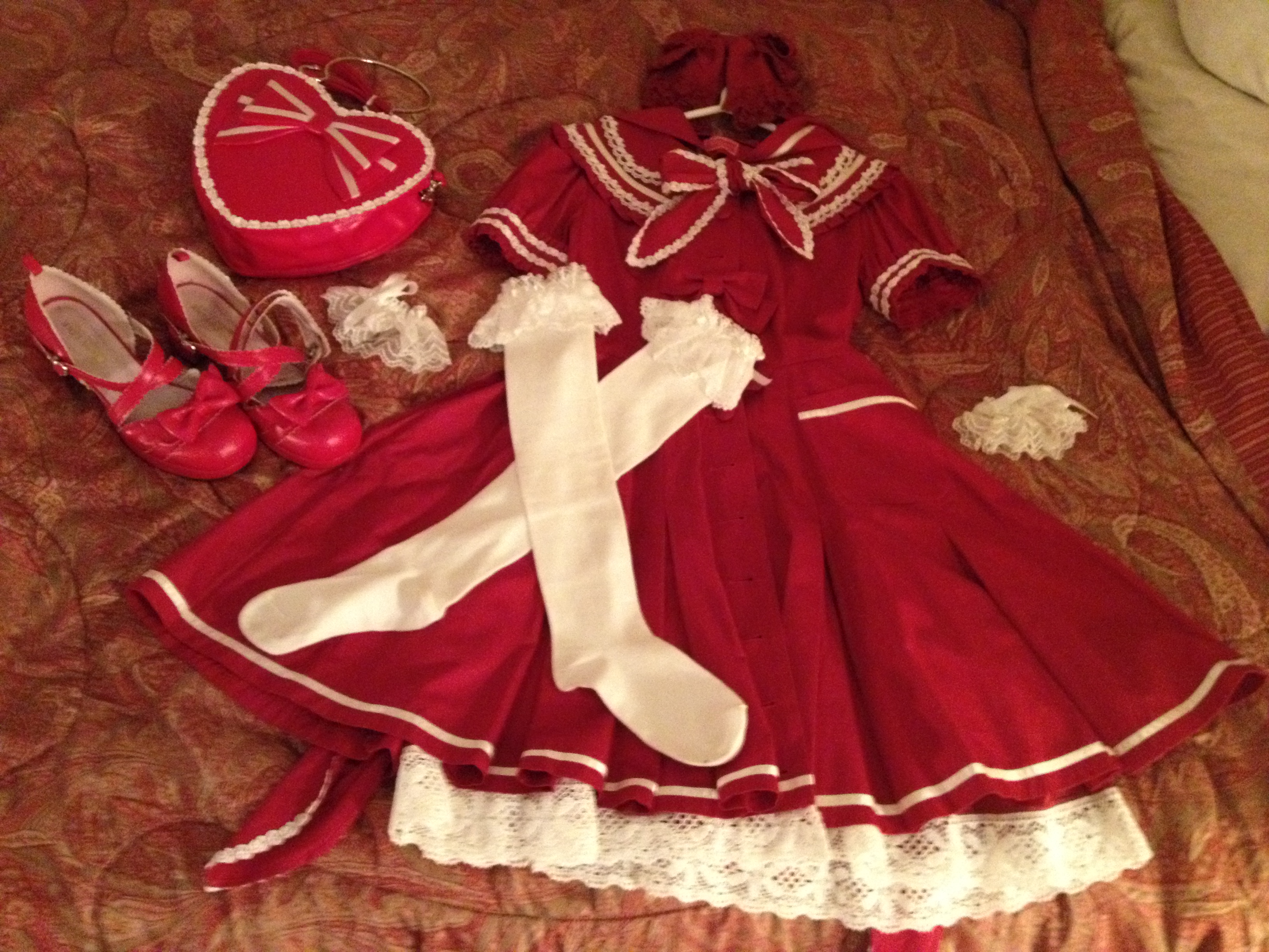 Red riding Hood coat OP Coord