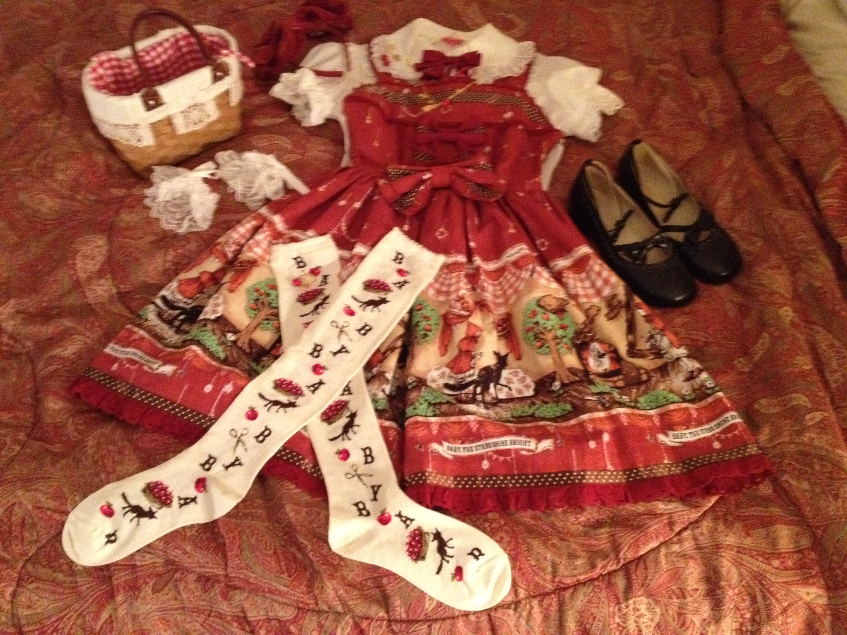 My Red Riding Hood coord