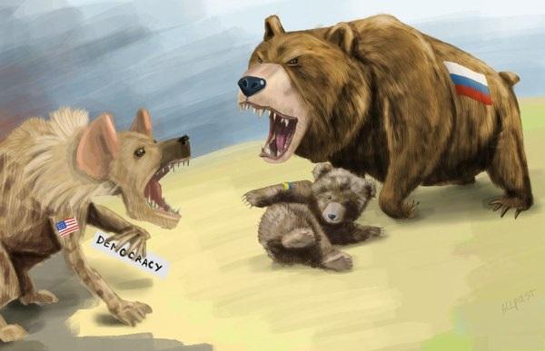 Россия-США-Украина-карикатура-1102359
