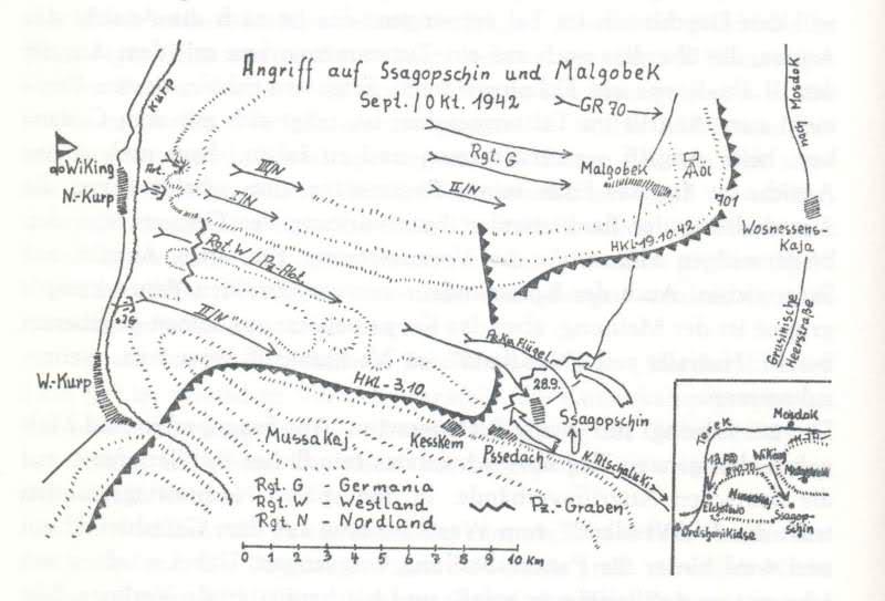 Фото карты немецкие боев моздокского района