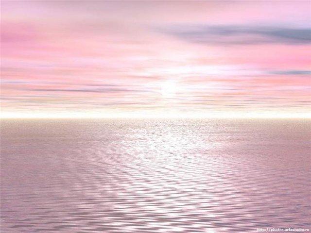 розовый океан