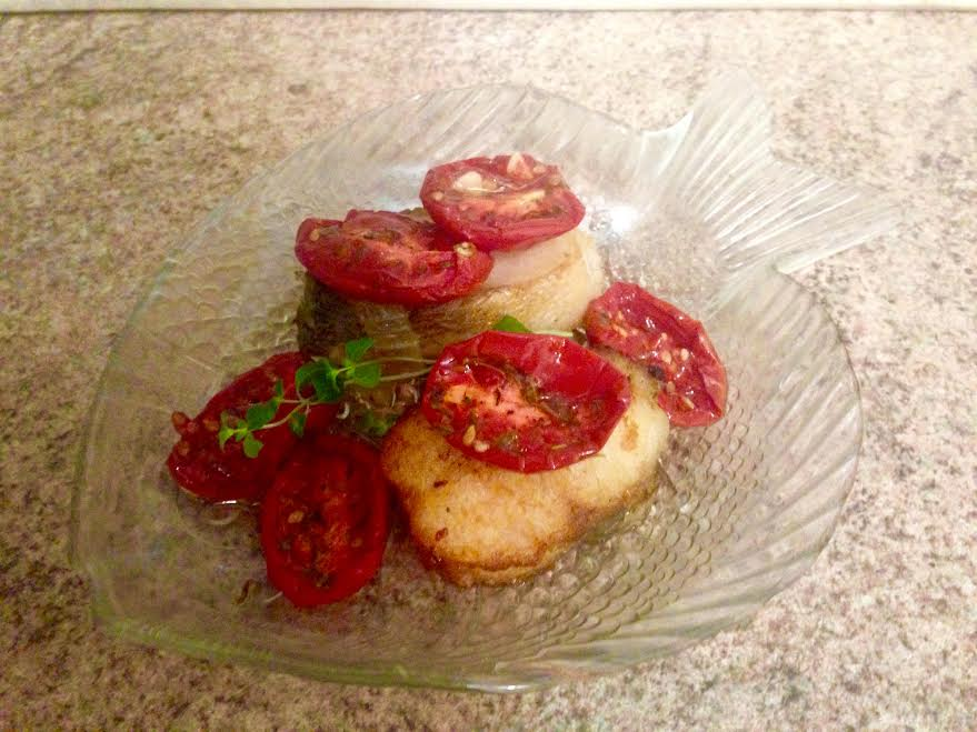 судак с вялеными помидорами