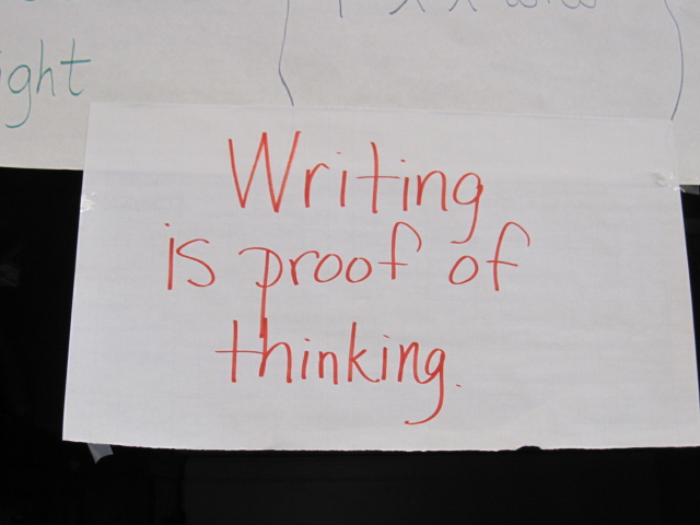 writing is proof