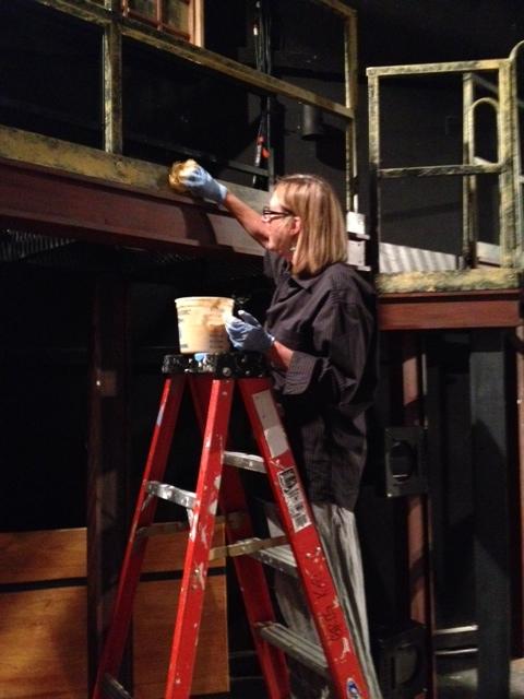 mill fire set painter