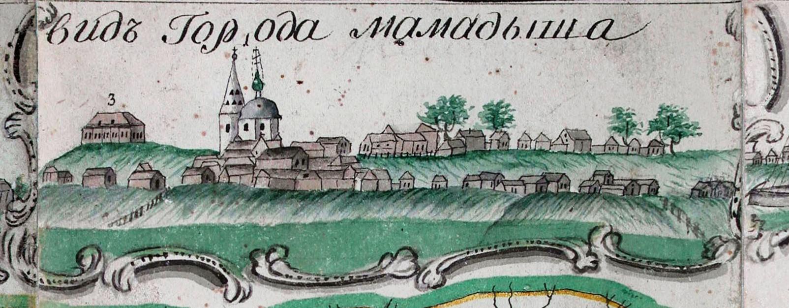 Из Геометрической карты Казанской Губернии, 1796 г.