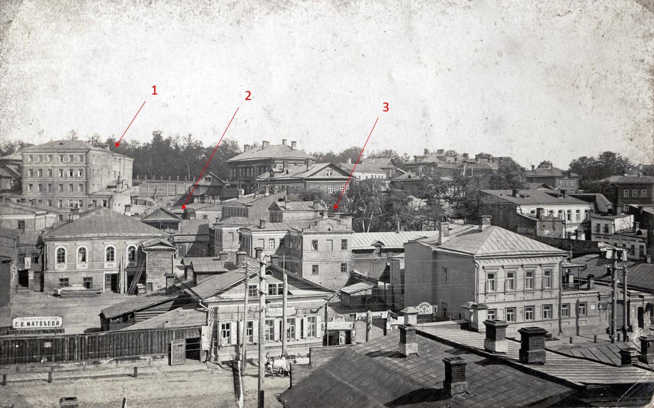 Вид на Рыбнорядскую улицу, 1880-1890 годы