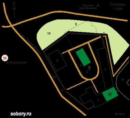 Схема монастыря с сайта sobory.ru