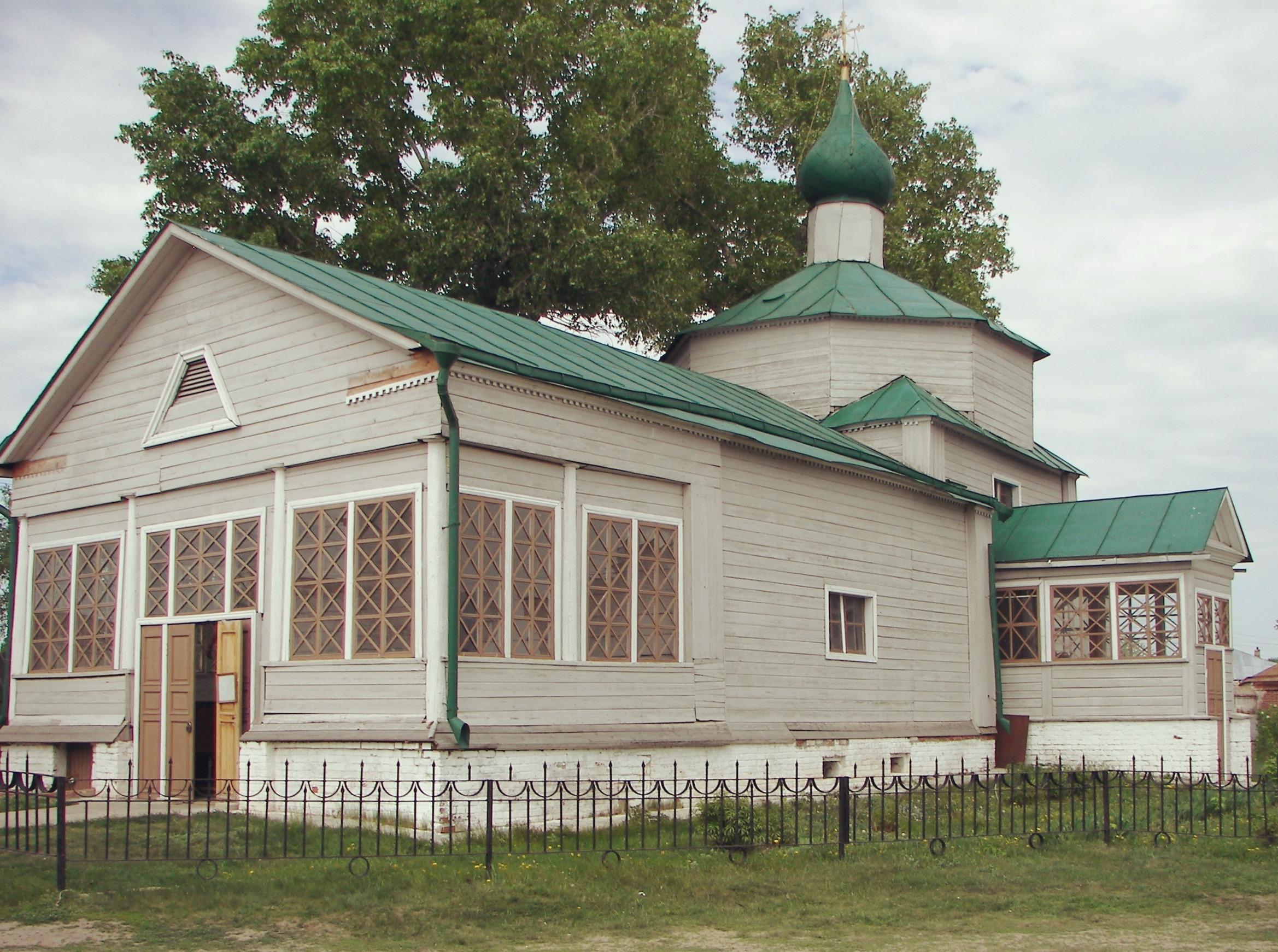 Церковь Троицы Живоначальной в облике конца 19 века.