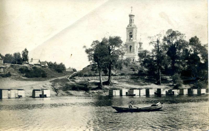 Церковь в с. Красная Горка (нынешнее Юдино), фотография конца XIX века(?).