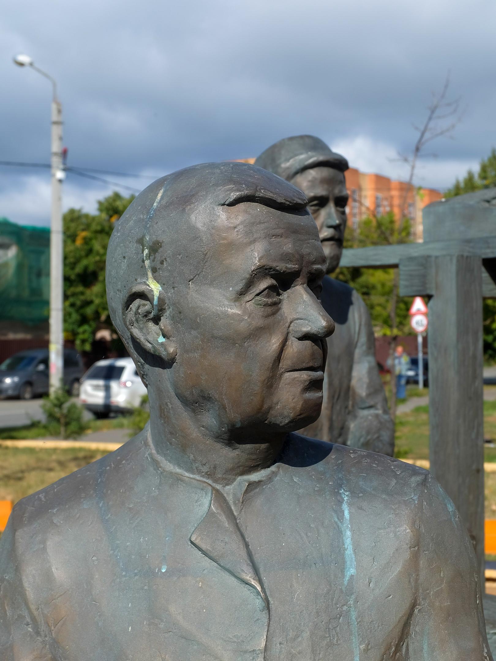 Памятник удачливым бишбалтинцам