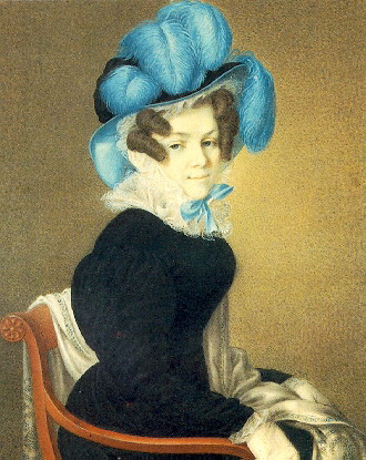 Лев Дмитриевич Крюков (1783-1843). Портрет Александры Андреевны Фукс. Казань, 1828.