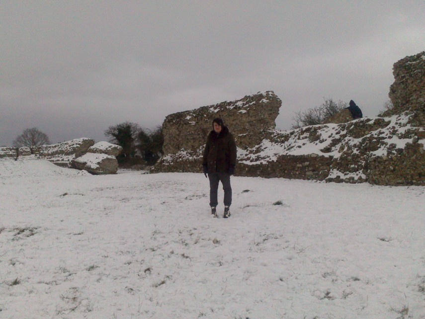 East Anglian scene at Burgh Castle, complete with creepy MR James-style lurker