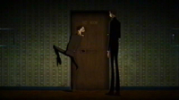 Note: Watanuki is STRUGGLING LIKE MAD to get into the bedroom.
