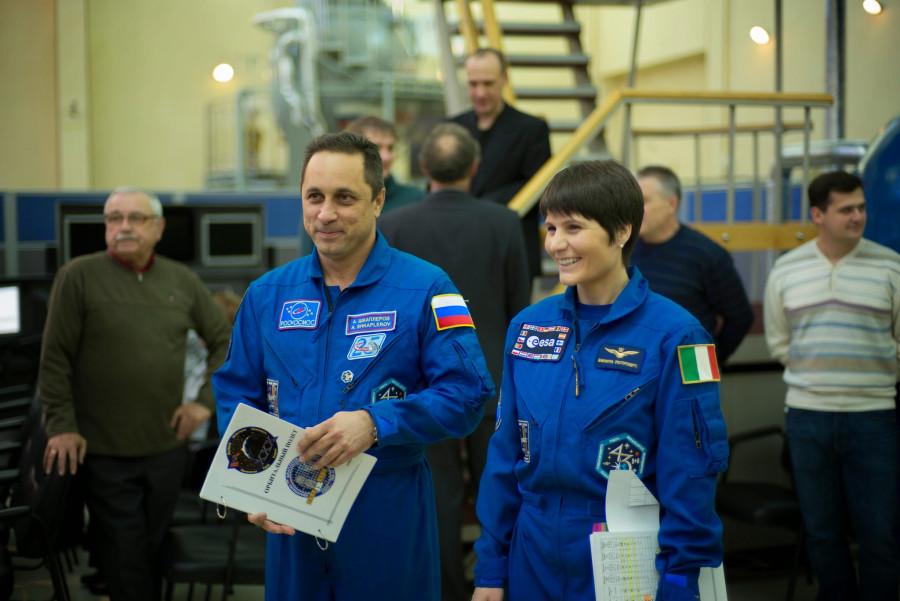 Саманта Кристофоретти и Антон Шкаплеров перед очередной тренировкой