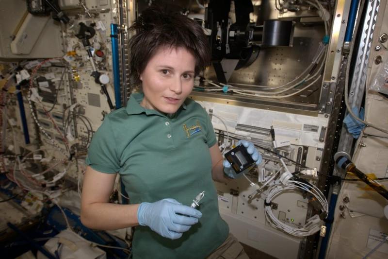 Саманта Кристофоретти на МКС