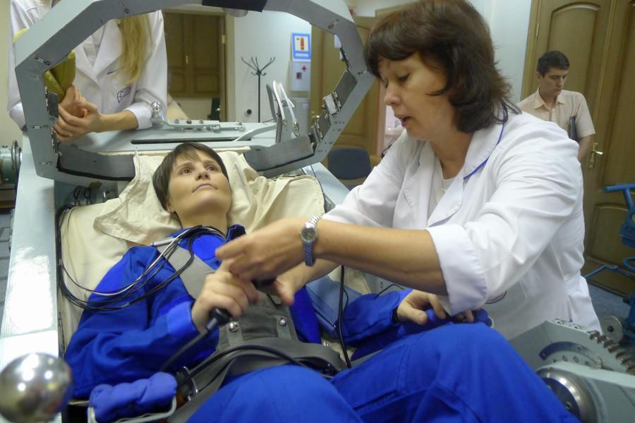 Саманта Кристофоретти - предполётная подготовка
