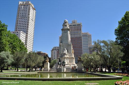 Мадрид  площадь Испании_Дон Кихот