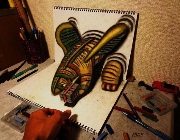 Натюрморт карандашом в виде