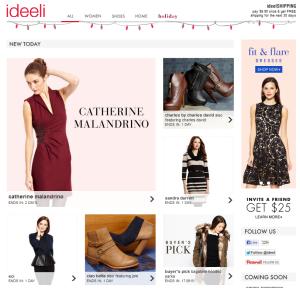 ideeli.com, интернет-шоппинг, sample sales, flash sales, закрытые распродажи, бесплатная доставка