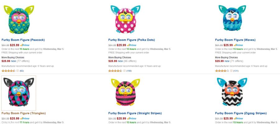 интернет-магазины, amazon.com, скидкт на амазоне, sample sales, flash sales, бесплатная доставка, закрытые распродажи, как покупать на закрытых распродажах, купон на скидку, выгодные предложения, купить ферби дешево, furby boom, купить ферби бум