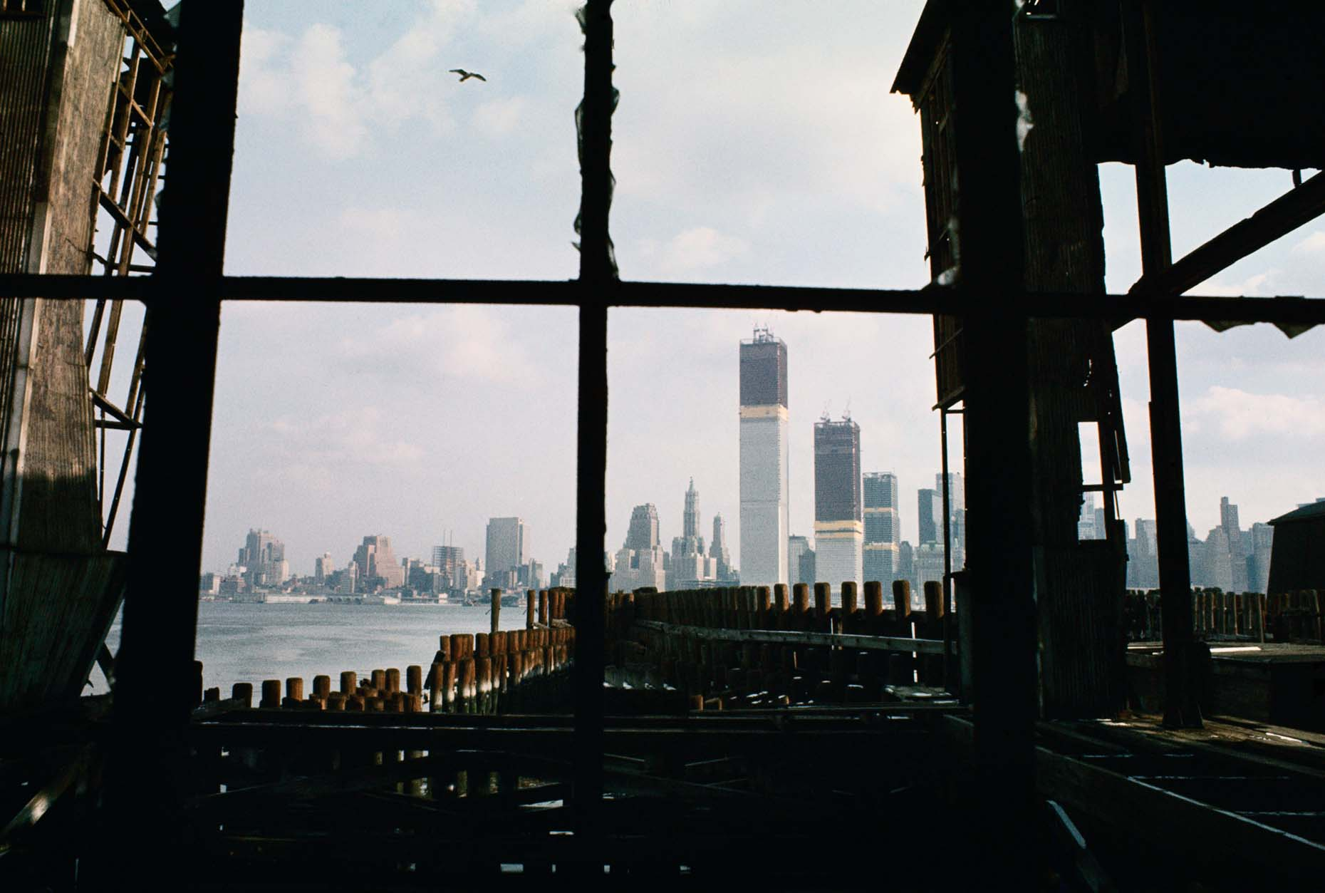 58_View from abandoned pier, Jersey City, New Jersey, 1970_