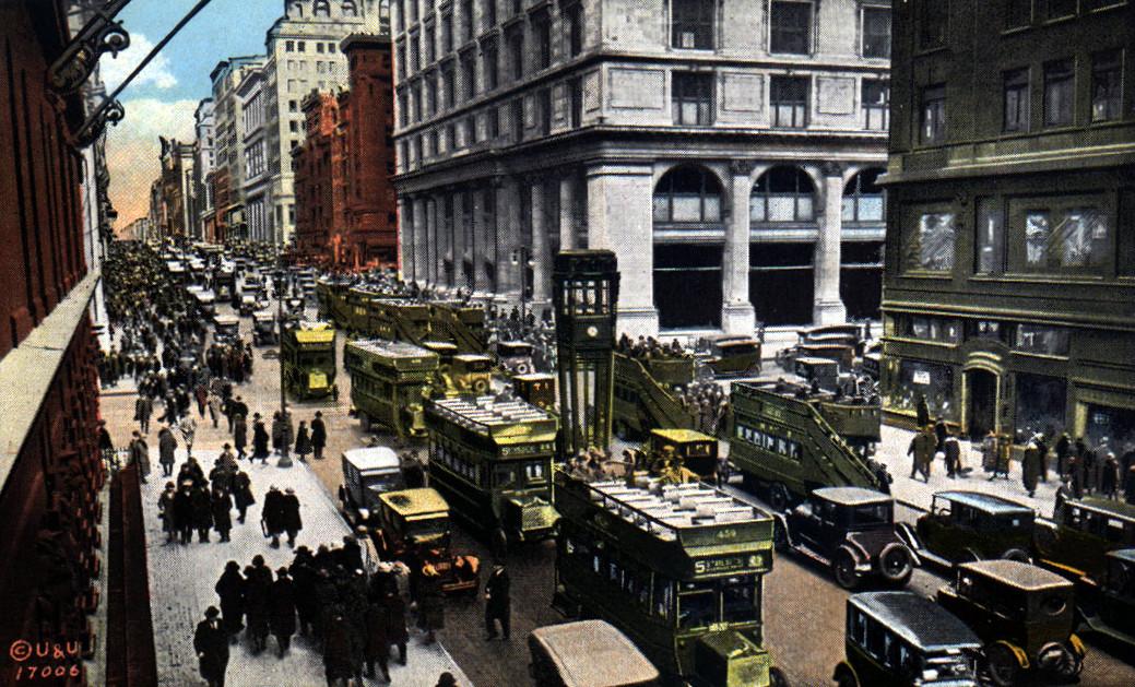 Из истории нью-йоркских светофоров postcard