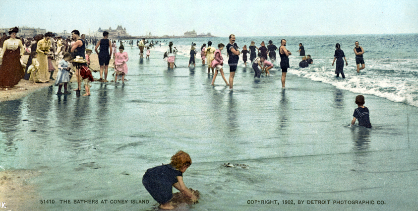 The Bathers at Coney Island, New York, New York - Year 1902