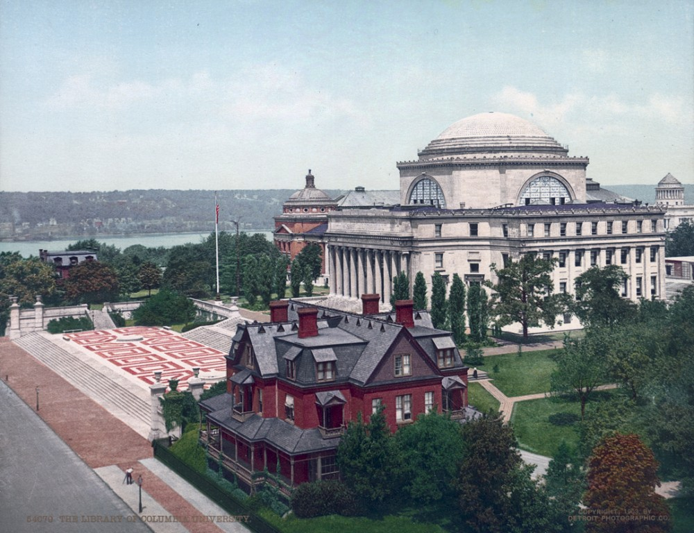 The Library of Columbia University, NYC, New York - Year 1903