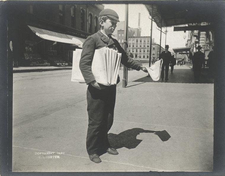 Newsboy. (1896) 2