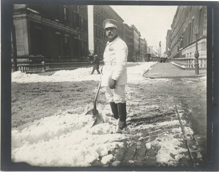 Snow removal. (1896)