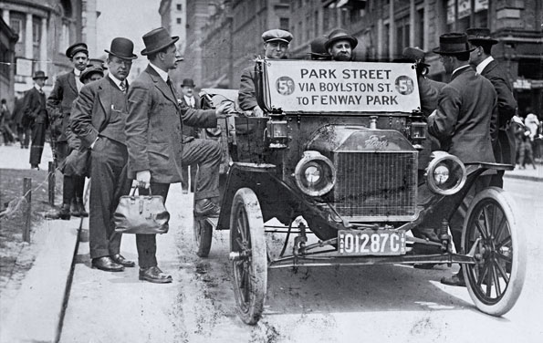 """Boston The first """"bus"""" to Fenway, in 1915, cost just 5 cents"""